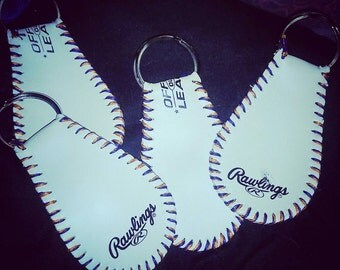 Handcrafted | Custom made | Baseball Leather Keychain