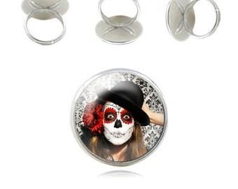 Gothic rings - El dia del muerto rings - el dia de los muertos rings handmade in France by Milacrea