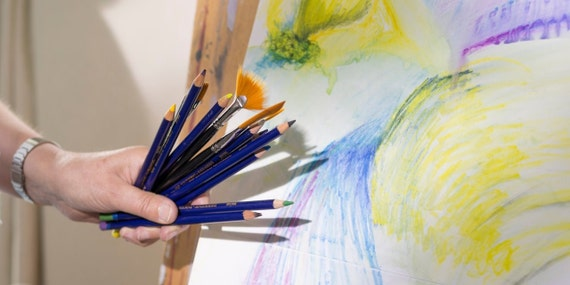how to use water soluble pencils