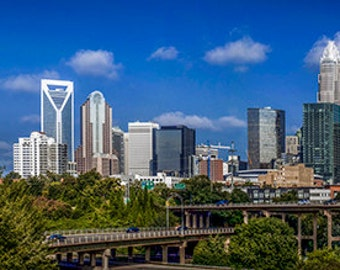 United States - North Carolina - Skyline of Uptown Charlotte - SKU 0152