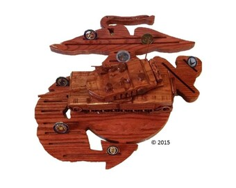 Abrams Tank 4D Coin Holder with other Fully Customizable Bases Available