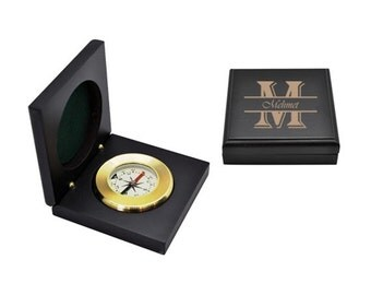 Wooden Boxed The Compass / Custom Engraved Name