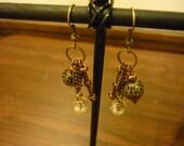Steampunk Cluster Earrings