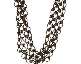 Vintaj 100% Natural Brass Ladder Chain - Bulk Cut chain Sold by the Foot CH01 Findings