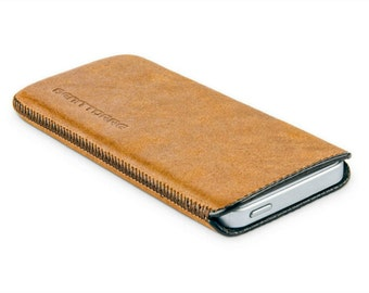 Camel colored phone case, iPhone 5S leather case, iPhone 5 case (IP5-25-CA)