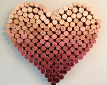Ombre Wine Cork Heart