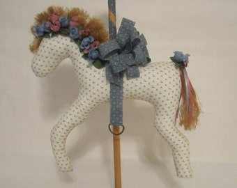 Decorative carousel horse, decorative soft scultpture carousel horse