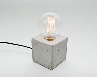 LJ Lamps alpha – concrete table lamp
