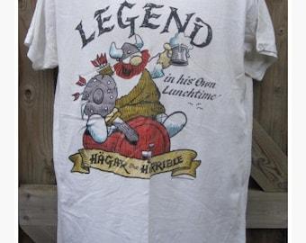 """Vintage """"HAGAR the HORRIBLE"""" 1987 Novelty T.Shirt  - Size XL"""