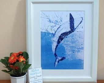 A3 Print - Whale Breaching