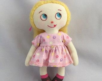 Raggedy doll. Cloth. OOAK doll. Little doll.