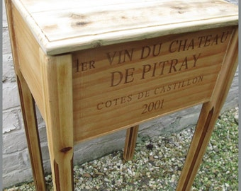 Wine Crate Side Table