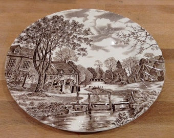 "Johnson Brothers Cotswold Brown 10"" Plate"