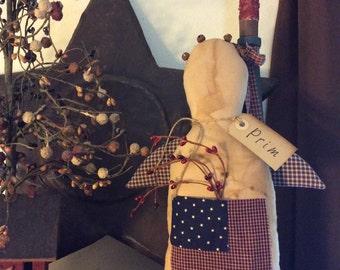 Primitive patriotic Angel shelf sitter