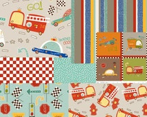 On Our Way Collection Bundle, Choose One Half or 1 Yard Cuts of 7 Prints by Riley Blake