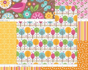 Riley Blake's Summer Song 2 Collection Bundle, 1 Yard Cuts or Fat Quarter Set of 7 Prints