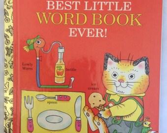 Richard Scarry's Best Little Word Book Ever Little Golden Book 1992
