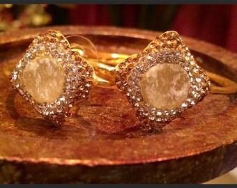 Druzy hoop earrings