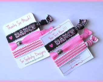 Dance Party Favors! Dance hair ties, gift for dancer, tween party, girls party favors, dancer gift, dance recital gift, love to dance