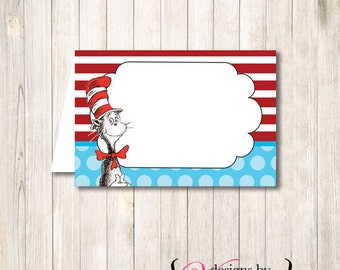 Dr Seuss Food Tents, Food Tents, Dr Seuss Food Labels, Food Labels, Dr. Seuss Food Tents, Dr Seuss Food Card
