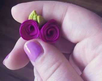 Polymer Clay Rose Charms