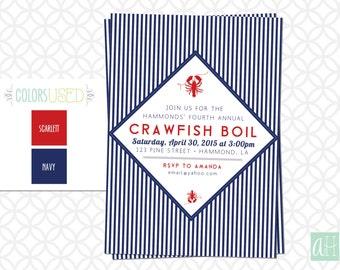 Printable Crawfish Boil Invitation