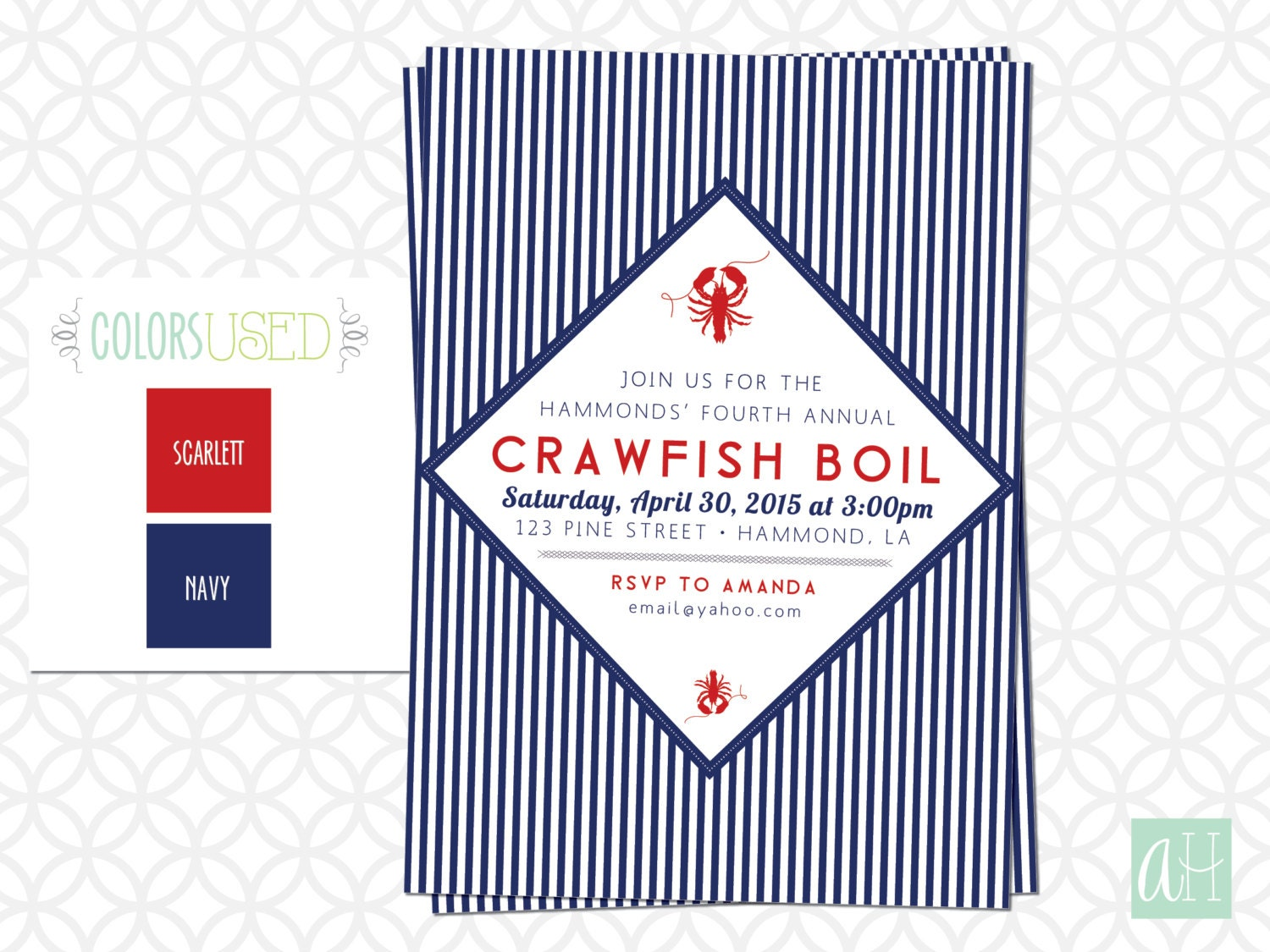 This is a picture of Bright Crawfish Boil Invitations Free Printable