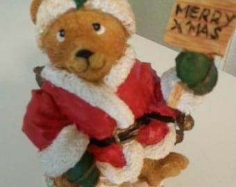 Holiday Bear Figurine