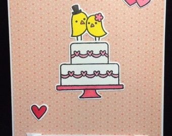 Congratulations Wedding Cake Greeting Card