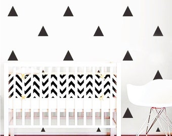 Triangle wall decal stickers | Available in a range of colours