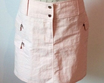 Vintage pink cotton Tommy Hilfiger skirt