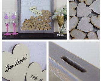 Personalised Wedding Drop Box SMALL 12 x 12 The Alternative Guest Book