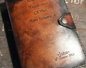 Handmade JW Leather Bible cover for New World Translation (silver edition)