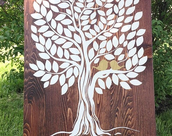 LARGE Guest book / Wedding Guest book / Wedding Guestbook / Wood Guest book / Weddings / Alternative guest book tree wood /Wedding gift idea