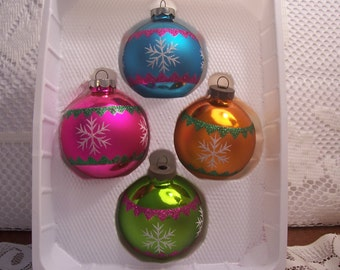Four Usa Christmas Ornaments