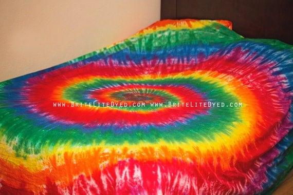 Tie Dye Bedding Bed Sheet Set Tie Dye Sheets Flat By