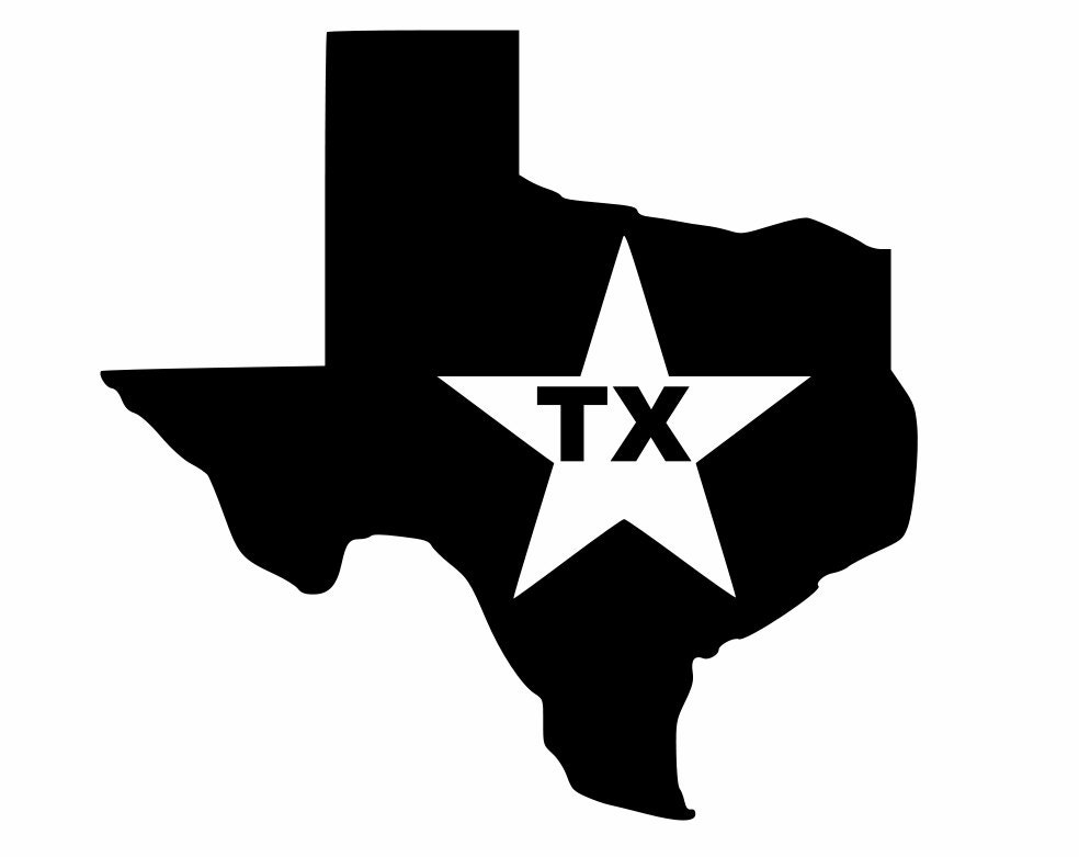 Silhouette Texas Texas decals Lone Star State Silhouette custom decal for