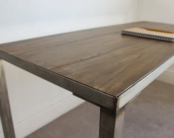 Astaire 6ft Industrial Office Desk Table Handmade in the UK