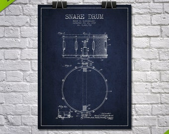 1939 Snare Drum Patent Wall Art Poster, Home Decor, Gift Idea, MUIN11P