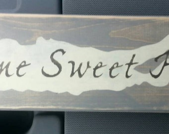HOME SWEET HOME sign with image of Long Island