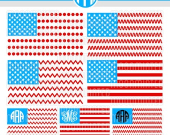 American Flag SVG Cut Files for Vinyl Cutters, Screen Printing, Silhouette, Die Cut Machines, & More