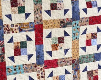 Scrappy Shoo Fly Baby Quilt