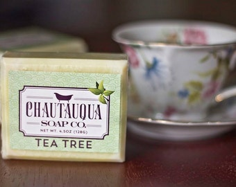 Tea Tree Bar Soap - Made with Organic Ingredients and Essential Oils