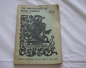 Vintage 1895 - Antique Annotated Copy Of - The importance of Being earnest