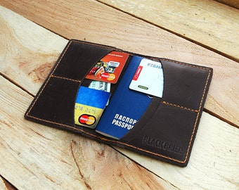 Personalized Leather passport cover Leather passport wallet Passport holder Passport Case Travel wallet