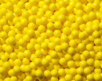 "Yellow Sugar Pearls  ""Cake/Cupcake/Cookie Decorations"""