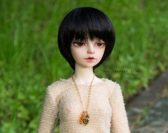 1/3 SD 1/4 MSD BJD Swarovski golden heart necklace