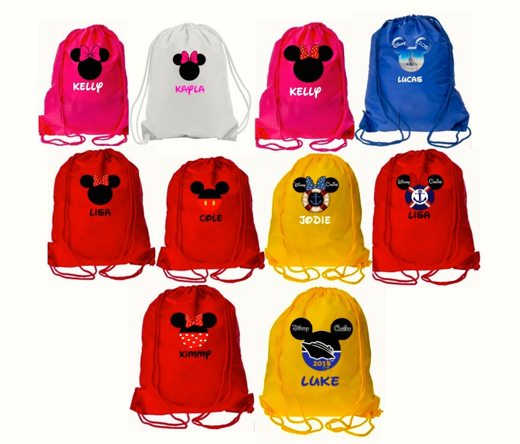 Disney Drawstring Bag Mickey And Minnie Vacation Party Bags