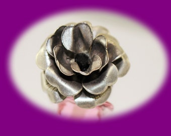 Vintage Boho Statement Ring Silver Tone Chunky Flower Ring Chunky Ring Flower Ring Vintage jewelry