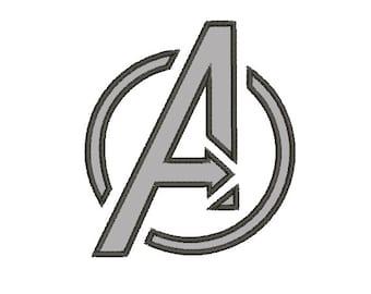 Avengers Logo Heroes Applique - Embroidery Machine Design